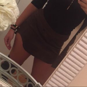 Olivaceous mini skirt